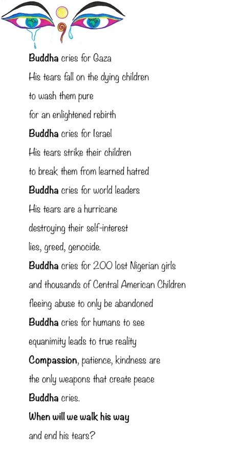 Buddha Cries for Gaza